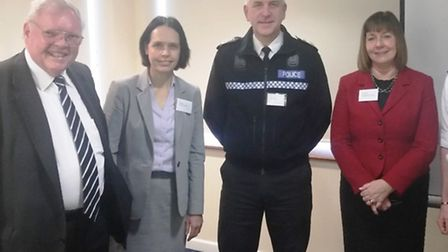 From left to right: Sir Graham Bright, Police and Crime Commissioner, Dr Liz Robin, Cambridgeshire C