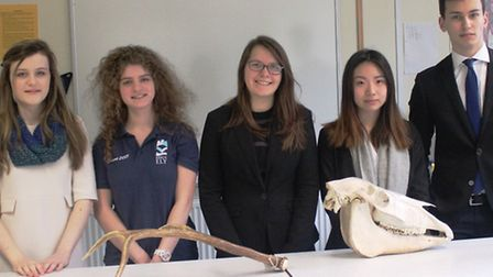 The King's Ely A Level Biology students that experienced success at the annual Biology Olympiad comp