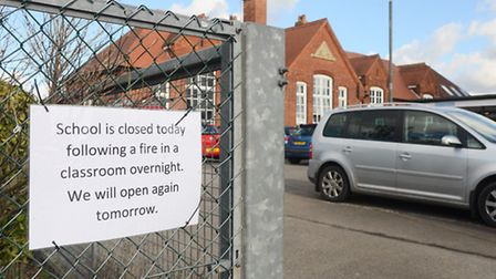 Emneth Primary School was closed on Tuesday after a fire in a classroom overnight. Picture: Ian Burt