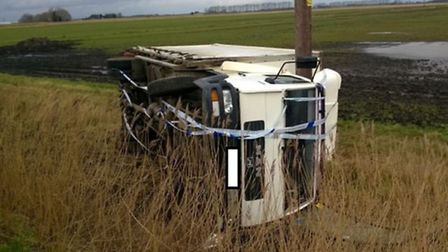 7.5 tonne lorry off road at Littleport