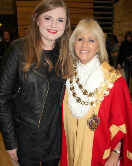 Volunteer Lucy Newstead with Mayor Councillor Liz Every at the City of Ely Volunteers Evening