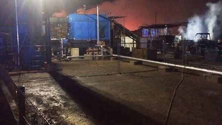 Machinery fire at Whittlesey