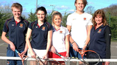 Felsted School's mixed senior team are through to the national tennis finals
