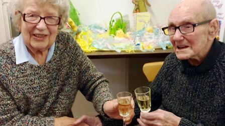 Cyril and Betty celebrate their 95th birthday