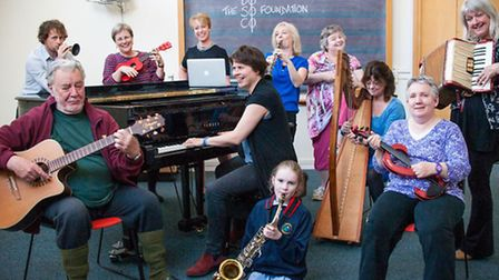 Some of the people who have benefitted from Dosoco's musical grants