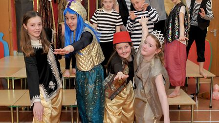 Ali Baba and the Bongo Bandits at Rackham primary school, Witchford. Picture: Steve Williams.
