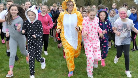 Our Year 5/6 pupils done their mile run with (some in onesies!) for Sport Relief. Rackham primary sc