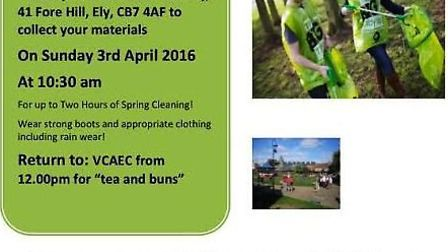 Ely will hold a 'Pick and Choose Clean Up' next Sunday (April 3).