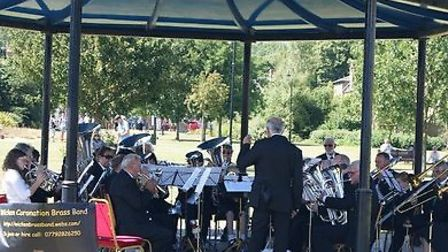 Wicken Coronation Band pictured at a concert in Jubilee Gardens last summer