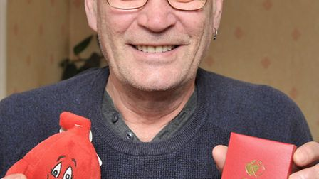 David Newton from Wisbech has given 101 pints of blood. Picture: Steve Williams.