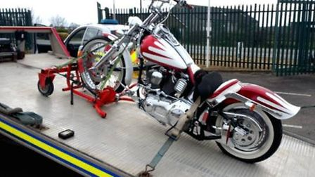 Motorcycle seized at around 2pm on Camel Road, Littleport