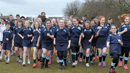 Run a Mile for Sport Relief at Cromwell Community College, Chatteris. Picture: Steve Williams.