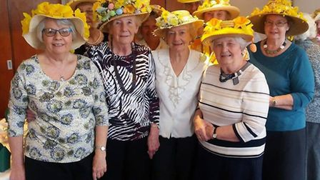 Wimblington Keep Fit Ladies hold their annual Easter bonnet lunch