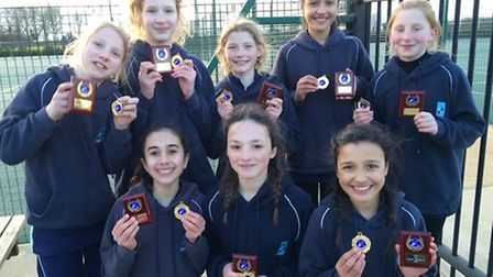 King's Ely's U12 Independent Association of Prep Schools (IAPS) Netball Tournament finalists.