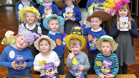 Easter Bonnet Parade at Park Lane Primary School, Whittlesey. Winners . Picture: Steve Williams.