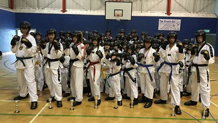 Ely's winners from the Mark Farnham Schools of Tae Kwon-Do.