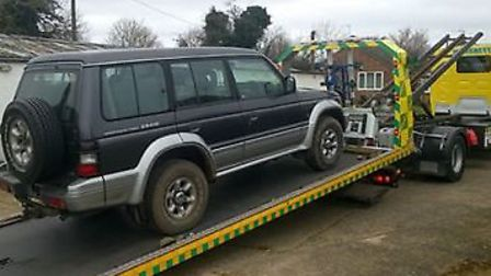 Vehicle seized from Beck Row