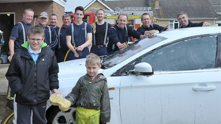 Chatteris Fire Station car wash. Picture: Steve Williams.