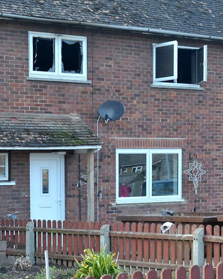 House Fire, Lime Avenue, Wisbech. Picture: Steve Williams.