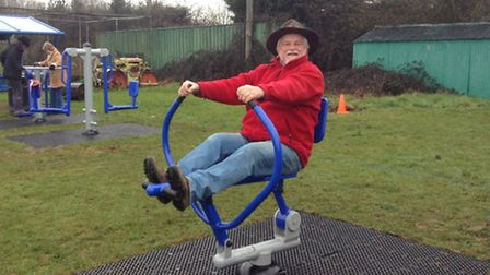 David Coverdale enjoys the new outdoor gym