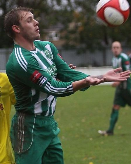 Robbie Mason, pictured here during his earlier spell at Soham Town Rangers, was sent off.