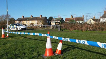 Police Cordon off an area down Wigstone's Road, March where a teenager raped a women in her 30s