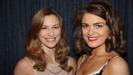 Young professional performer Katie Shearman on the left and leading lady Becky Bush on the right