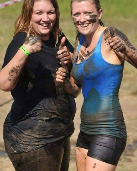 Jade Pointer (right) after a touch mudder style challenge