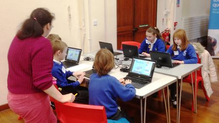 Intel and the Tablet Academy's workshop at King's Ely Junion.