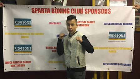 Eryk Ciureja was in fine form in his fight against John Barry, winning all three rounds.