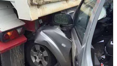 Worrying images from crash are a timely reminder for driver safety say police