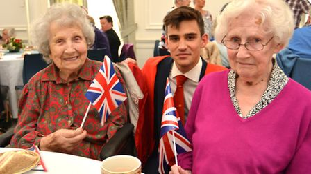 King's Ely, holding a Tea Party for Ely residents who are 90 years old or above, (l-r) 101 year old