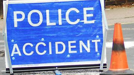 One carriageway of Gunnels Wood Road had to be shut after the crash