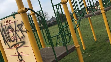 BEFORE: April-Louise Morley's photo of graffiti at Parsons Lane Park in Littleport.