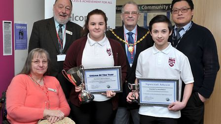 Young Citizen of the Year, two students from Harry Smith Whittlesey recieved there Citizen of the ye