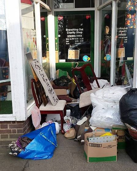 Fly tipping at Branching Out in Littleport