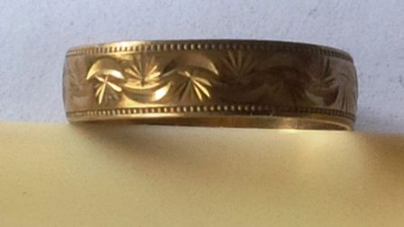 The gold ring which a familyfrom Spalding found insisde the gravel of a fish tank bought from a fam