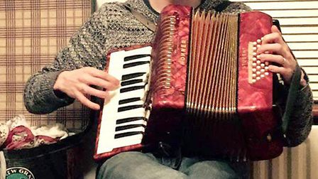 Charity Rock N Roll Squeezebox Concert. Adam Faber on Accordion.