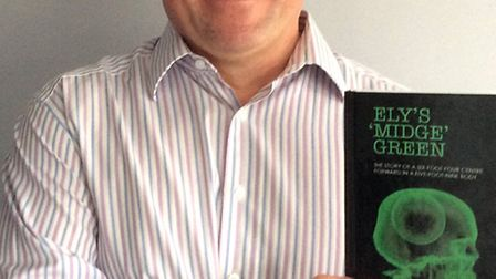 Ex Ely footballer Steve Green, with his new book,