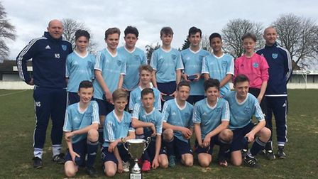 Witchford Colts Whites County Cup winning squad.