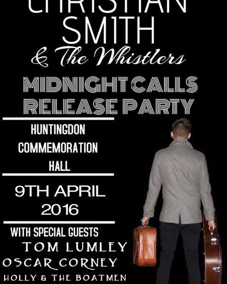 Release party at The Commemoration Hall in Huntingdon
