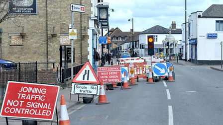 March road works. Picture: Steve Williams.