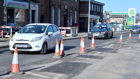 Road works Dartford Road, March. Picture: Steve Williams.