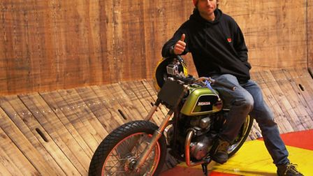 Guy Martin in training with Ken Fox Wall of Death
