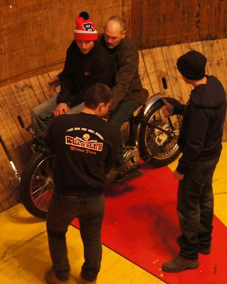 Guy Martin in the wall of death