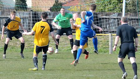 March Town kept their second clean sheet in three games in a 2-0 win over Team Bury on Saturday. Pic