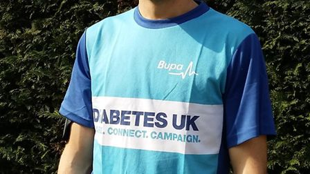 Paul Sycamore, from Ely, who is running the London Marathon for Diabetes UK.