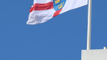 The flag of East Anglia, flying over County Hall. Pic: Norfolk County Council.