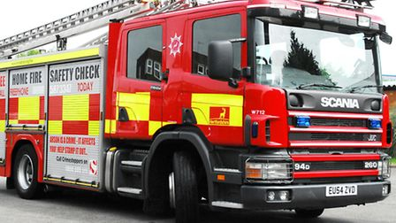 Firefighters freed a woman from her vehicle after a crash in Little Dunmow last night