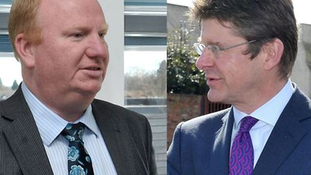 Montage, Cllr Steve Count and Goverment Minister Greg Clark